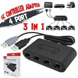 Gamecube Adapter 3-in-1 voor Nintendo WiiU en Nintendo Switch