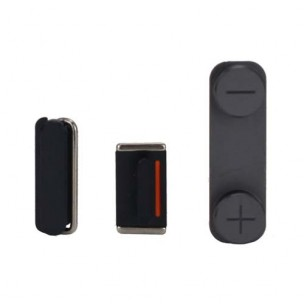 Button Set Zwart voor iPhone 5