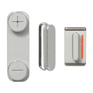 Button Set Zilver voor iPhone 5