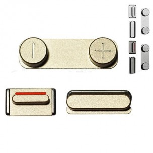 Button Set Goud voor iPhone 5S