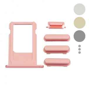 SIM Card Tray en Button Set Goud voor iPhone 6S