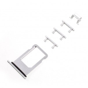 iPhone 8 Sim Tray Button Set Zilver