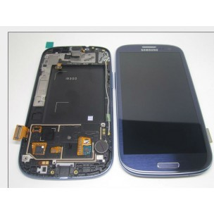 Voorkant incl Frame Pebble Blue voor Samsung Galaxy S3 i9300