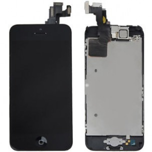 Voorkant OEM incl Smallparts Zwart voor iPhone 5C
