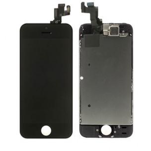 Voorkant OEM incl Smallparts Zwart voor iPhone 5S