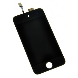 Voorkant Front Assembly Zwart voor iPod Touch 4G