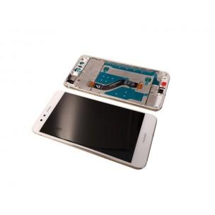 Huawei P10 Lite Scherm Voorkant Display met Frame Wit