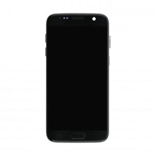 Samsung Galaxy S7 Scherm Voorkant Display met Frame Origineel Zwart
