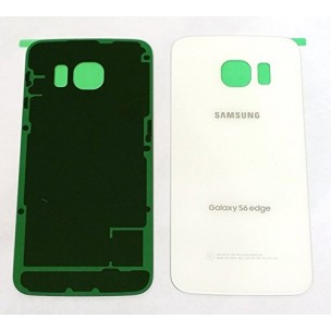 Samsung Galaxy S6 Edge Achterkant met Plakstrip Wit