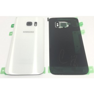 Samsung Galaxy S7 Achterkant met Rear Camera Lens Cover Glass Lens Wit
