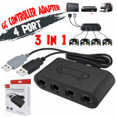 Gamecube Adapter 3-in-1 voor Nintendo WiiU en Nintendo Switch