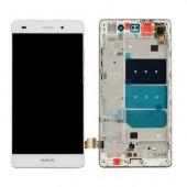 Huawei P8 Lite Scherm Voorkant Display met Frame Wit