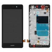 Huawei P8 Lite Scherm Voorkant Display met Frame Zwart