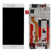 Huawei P9 Scherm Voorkant Display met Frame Wit