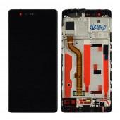 Huawei P9 Scherm Voorkant Display met Frame Zwart