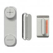 Button Set Zilver voor iPhone 5