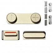 Button Set Goud voor iPhone 5S