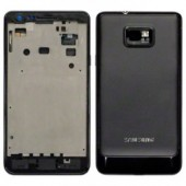 Behuizing Zwart voor Samsung Galaxy S2 i9100