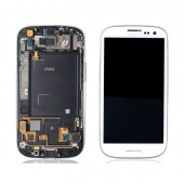 Voorkant incl Frame Marble White voor Samsung Galaxy S3 i9300
