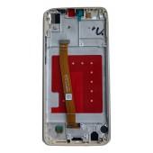 Huawei P20 Lite Scherm Voorkant Display met Frame Origineel Wit