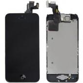 Voorkant OEM incl Smallparts Zwart voor iPhone 5C