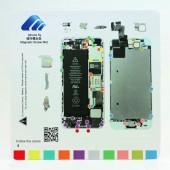 Magnetische Schroeven Mat voor iPhone 5S