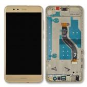 Huawei P10 Lite Scherm Voorkant Display met Frame Goud
