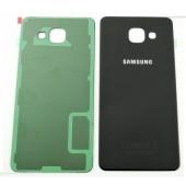 Samsung Galaxy A3 2016 Achterkant met Plakstrip Zwart
