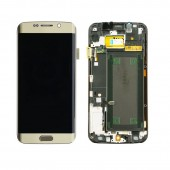 Samsung Galaxy S6 Edge Scherm Voorkant Display met Frame Goud