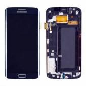 Samsung Galaxy S6 Edge Scherm Voorkant Display met Frame Zwart