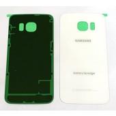 Samsung Galaxy S6 Edge Achterkant met Plakstrip Origineel Wit