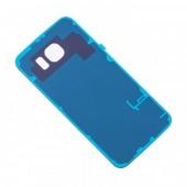 Samsung Galaxy S6 Achterkant met Plakstrip Origineel Blauw