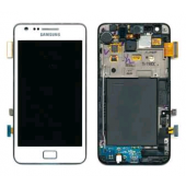 Voorkant incl Frame Wit voor Samsung Galaxy S2 i9100